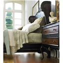 Hooker Furniture Grandover Two-Drawer Leg Nightstand with Electrical Receptacle & Touch Light - Shown with Shelter Bed