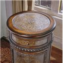 Hooker Furniture Seven Seas Tall Round Accent Cabinet - Classical Top Design