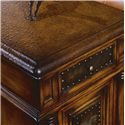 Hooker Furniture Seven Seas Chairside Etched Brass Table - Thick Durable Tops