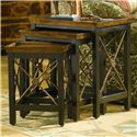 Hooker Furniture Seven Seas Nest of Three Table w/ Medallion Motif - Item Number: 500-50-683