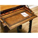 Hooker Furniture Seven Seas Jacobean Twist Leg Flip Top Writing Desk - Top Flipped Open