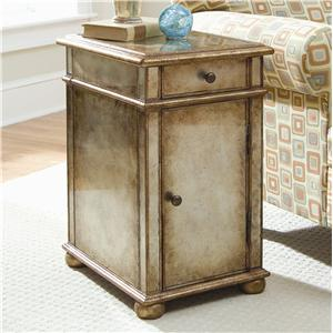 Hooker Furniture Seven Seas One-Door One-Drawer Antique Mirror Chest