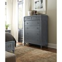 Hooker Furniture Hamilton Transitional Six-Drawer Chest in Gray Finish