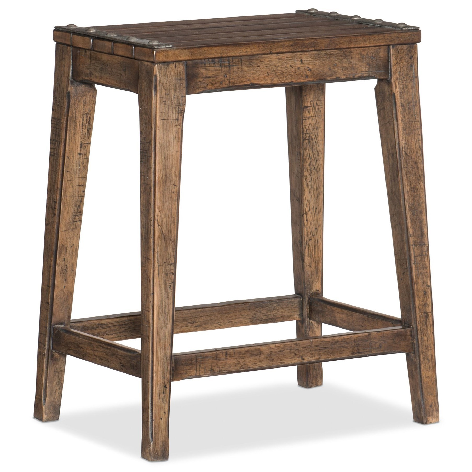 Hill Country Medina Lake Backless Counter Stool by Hooker Furniture at Stoney Creek Furniture