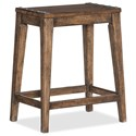 Hooker Furniture Hill Country Medina Lake Backless Counter Stool - Item Number: 5960-25350A-BRN