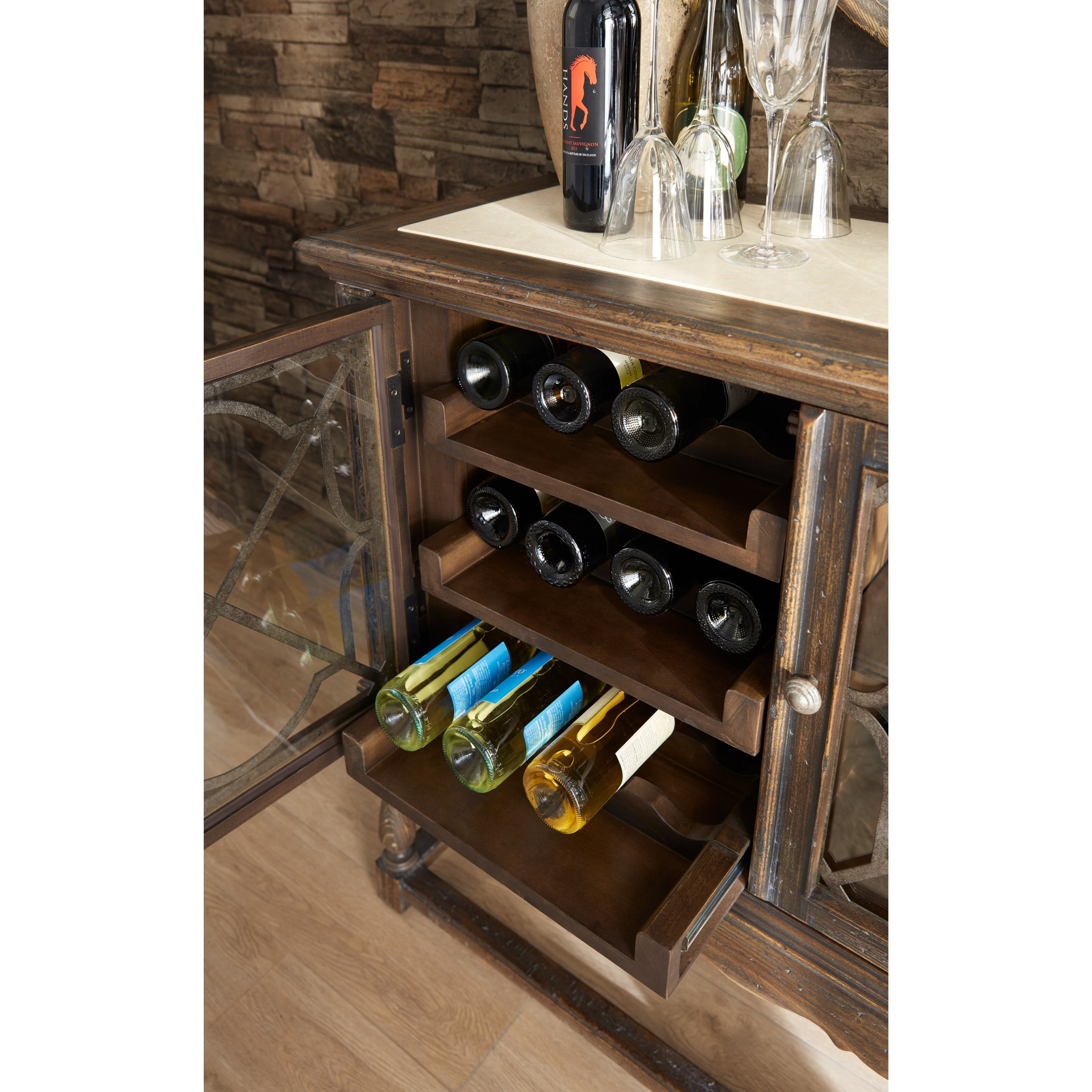 Hooker Furniture Hill Country La Coste Wine Cellaret With