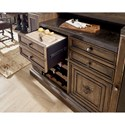 Hooker Furniture Hill Country New Braunfels Bar with Bottle Opener and Removable Cutting Board