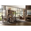 Hooker Furniture Hill Country Bandera 86in Table Trestle Table with 2-18in Leaves