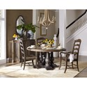 Hooker Furniture Hill Country Applewhite 60in Round Pedestal Dining Table
