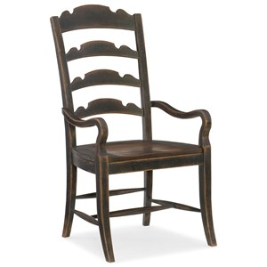 Hooker Furniture Hill Country Twin Sisters Ladderback Arm Chair