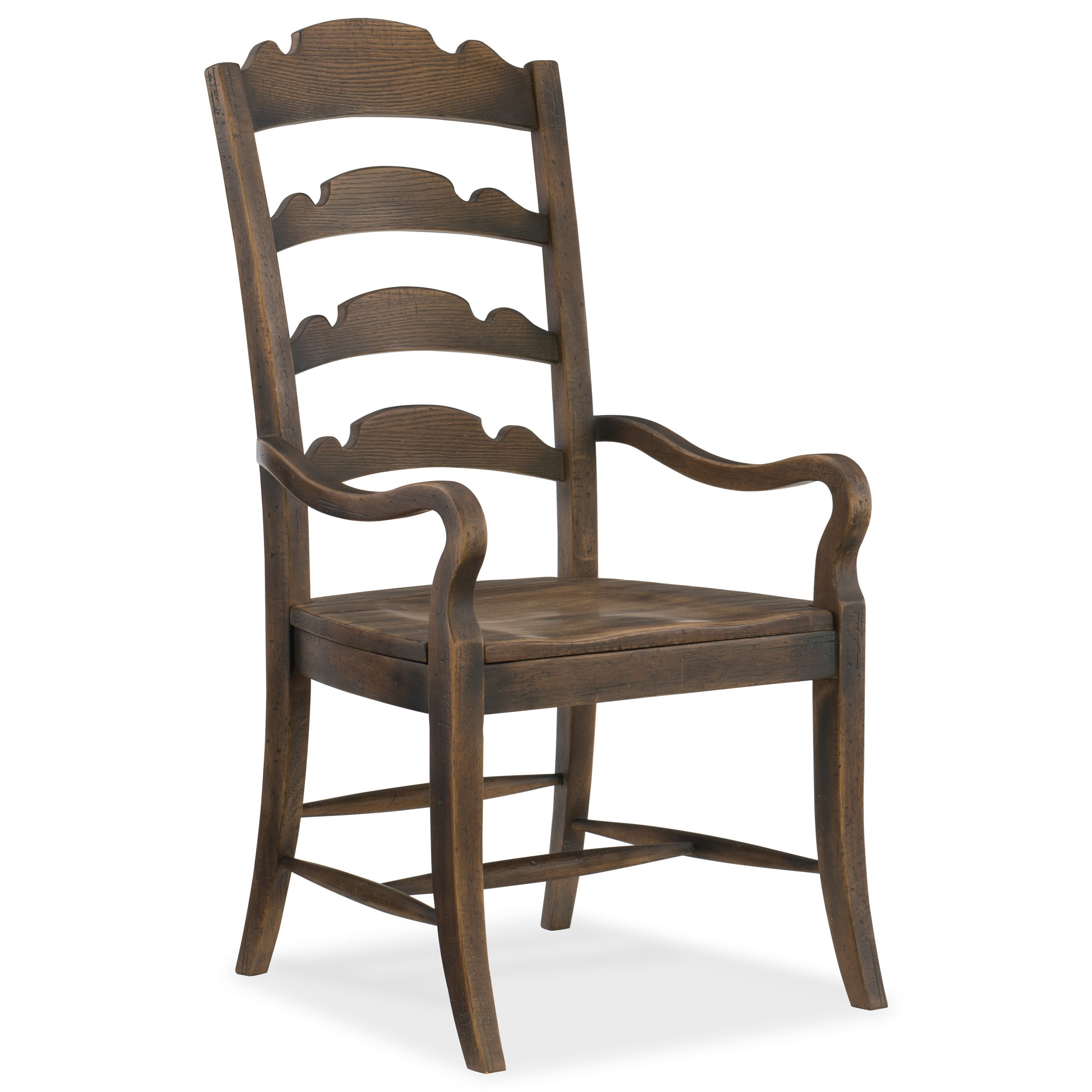 Hill Country Twin Sisters Ladderback Arm Chair by Hooker Furniture at Stoney Creek Furniture