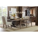 Hooker Furniture Hill Country Helotes Dining Bench