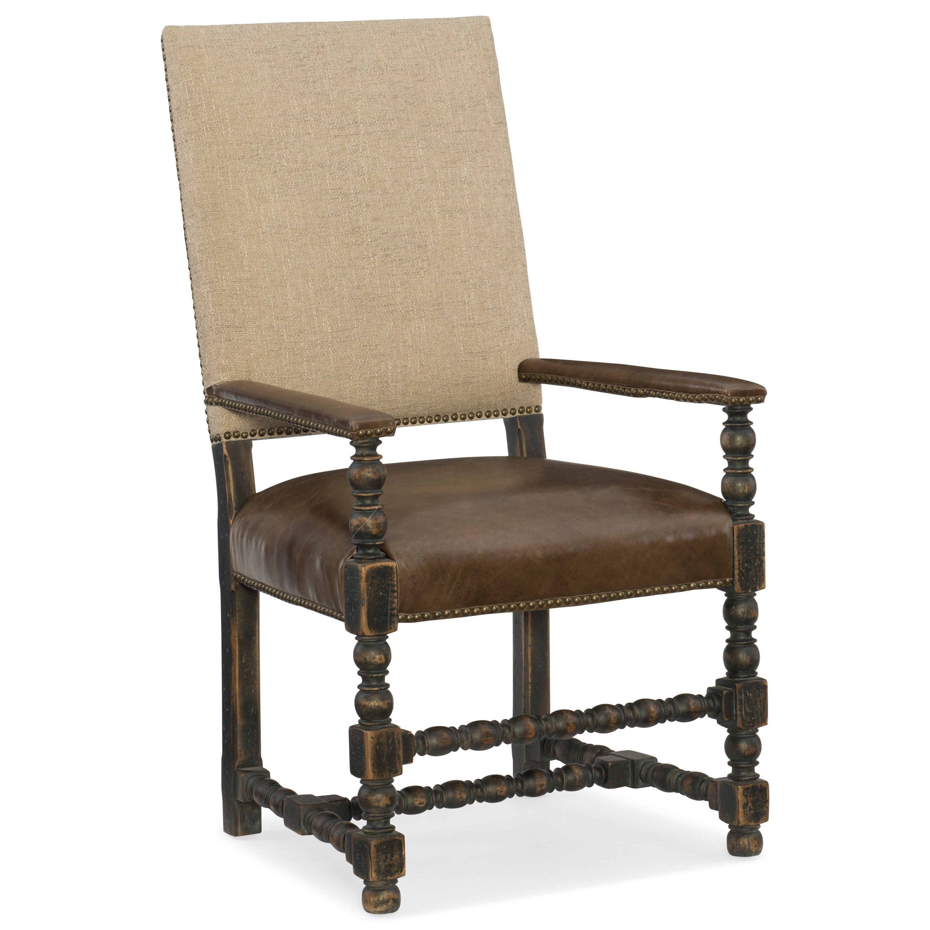 Hill Country Comfort Upholstered Arm Chair by Hooker Furniture at Baer's Furniture