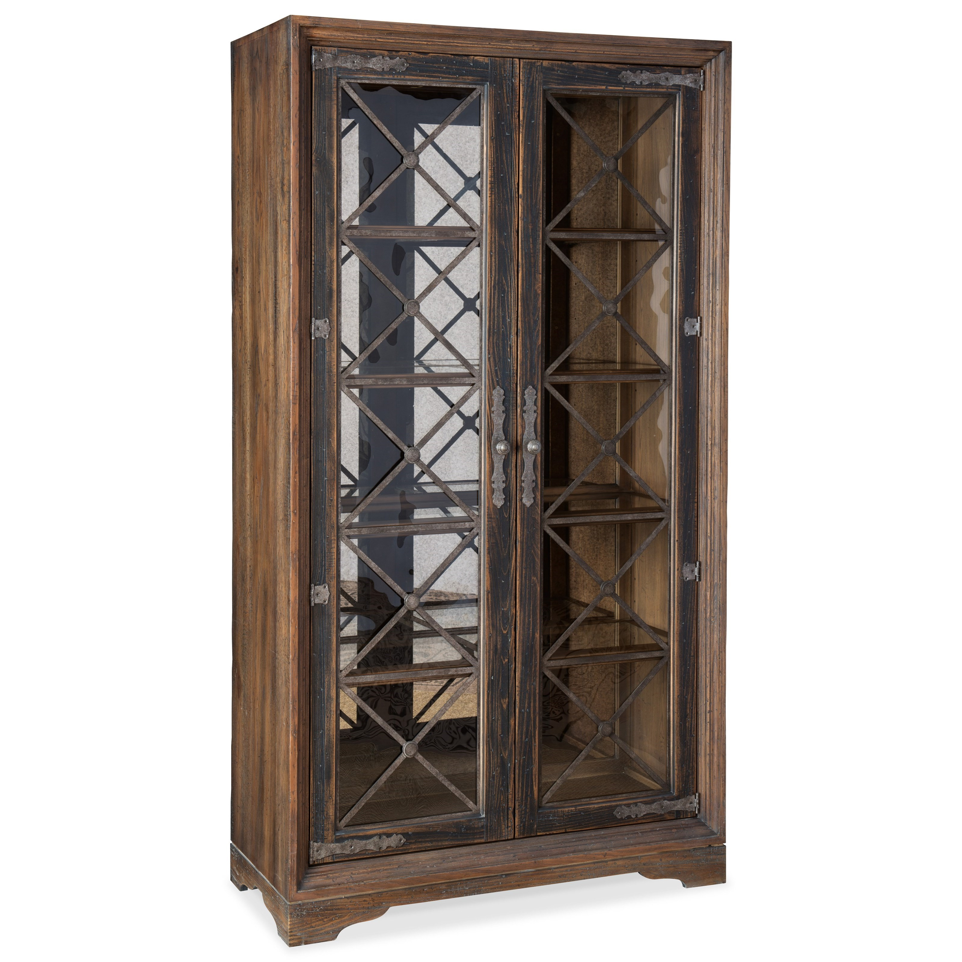 Hill Country Sattler Display Cabinet by Hooker Furniture at Baer's Furniture