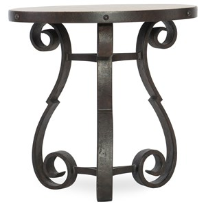 Hooker Furniture Hill Country Luckenbauch Metal and Stone End Table