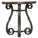 Hooker Furniture Hill Country Luckenbauch Metal and Stone End Table - Item Number: 5960-80113-MTL