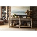 Hooker Furniture Hill Country Bexar Leg Huntboard with 2 Drawers