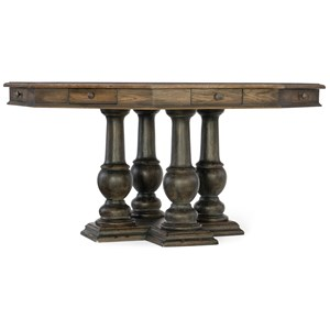 Hooker Furniture Hill Country Castle Hills 60in Game Table