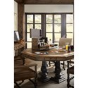 Hooker Furniture Hill Country Castle Hills 60in Game Table with Leather Top