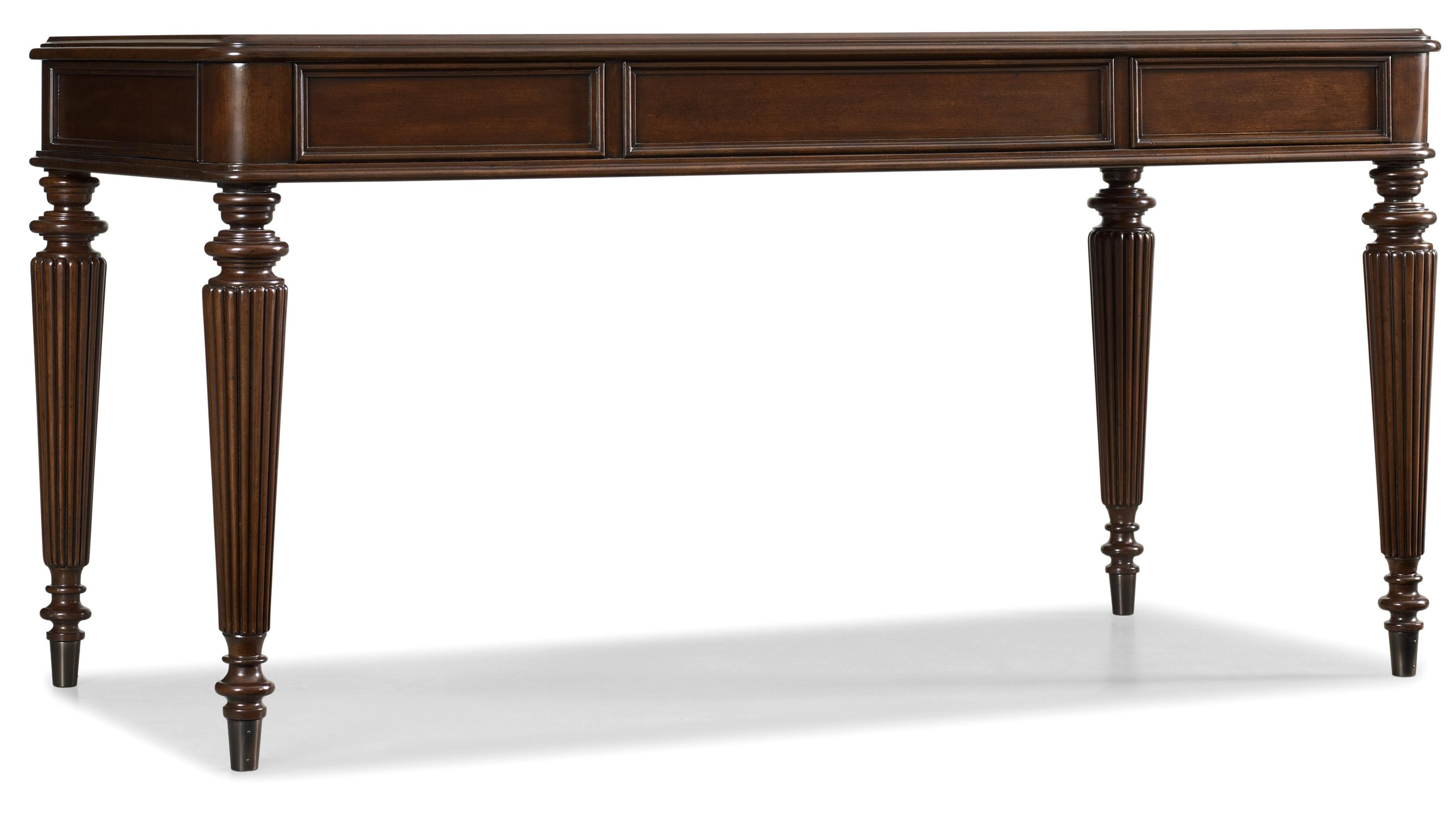 Hooker Furniture Home Office Turned Leg Table Desk With
