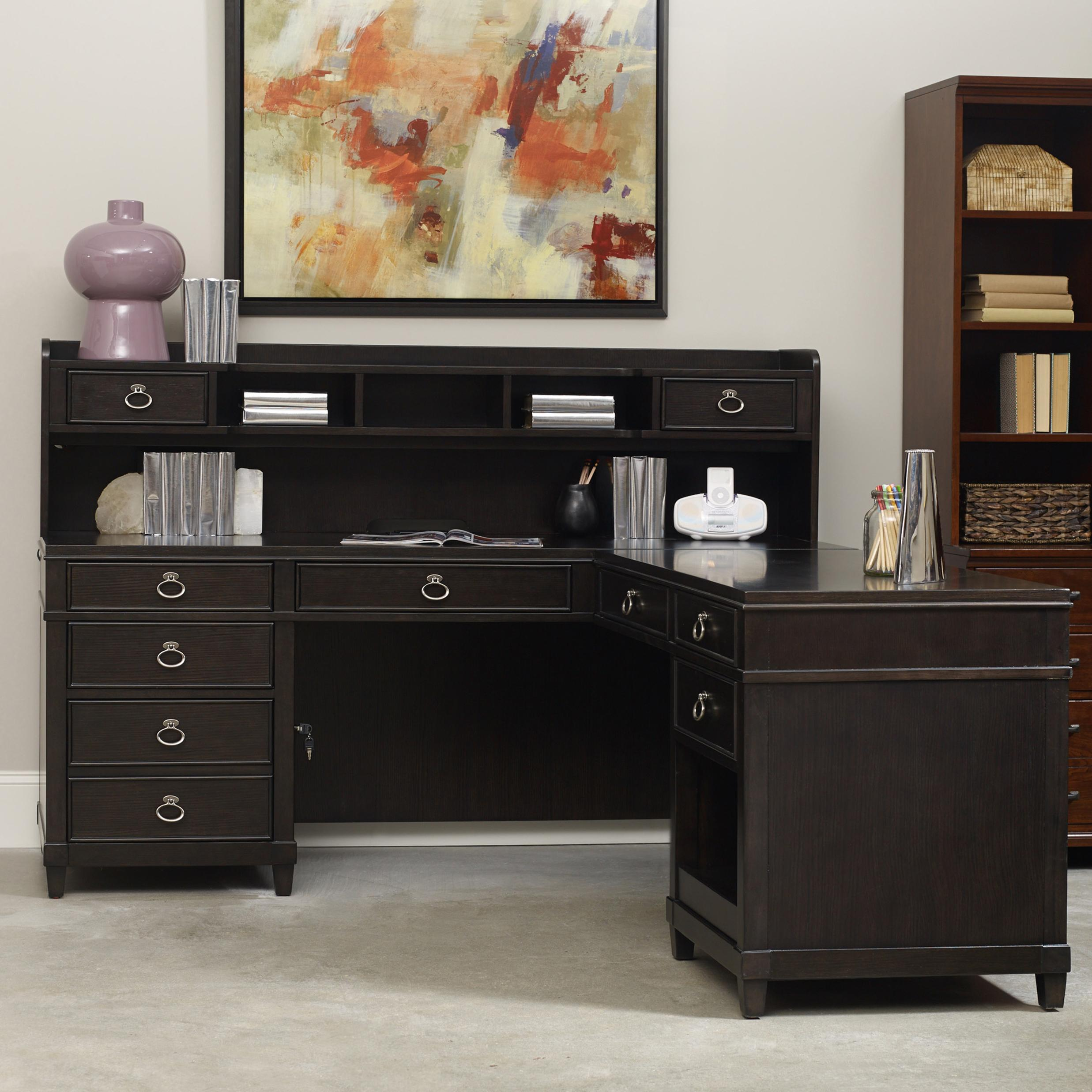Hooker Furniture Kendrick L Desk with Hutch - Item Number: 1060-10479+78+367
