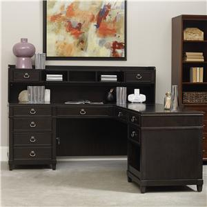 Hooker Furniture Kendrick L Desk with Hutch