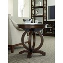 Hooker Furniture Kinsey Contemporary Round End Table with Open Circle Pedestal Base