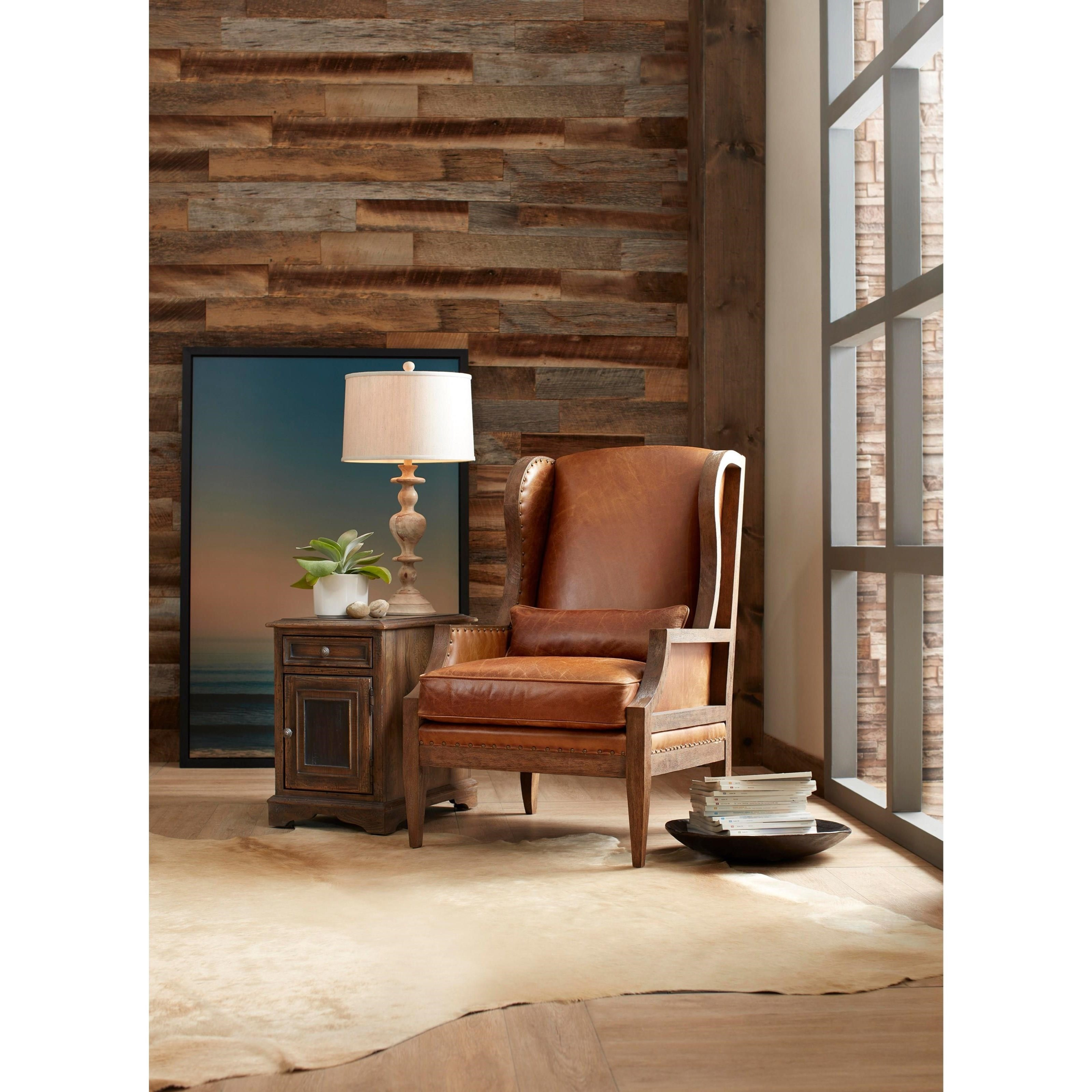 Living Room Ideas To Steal For Comforting Vibe Found In: Hooker Furniture Laurel Exposed Wood Club Chair With Wing