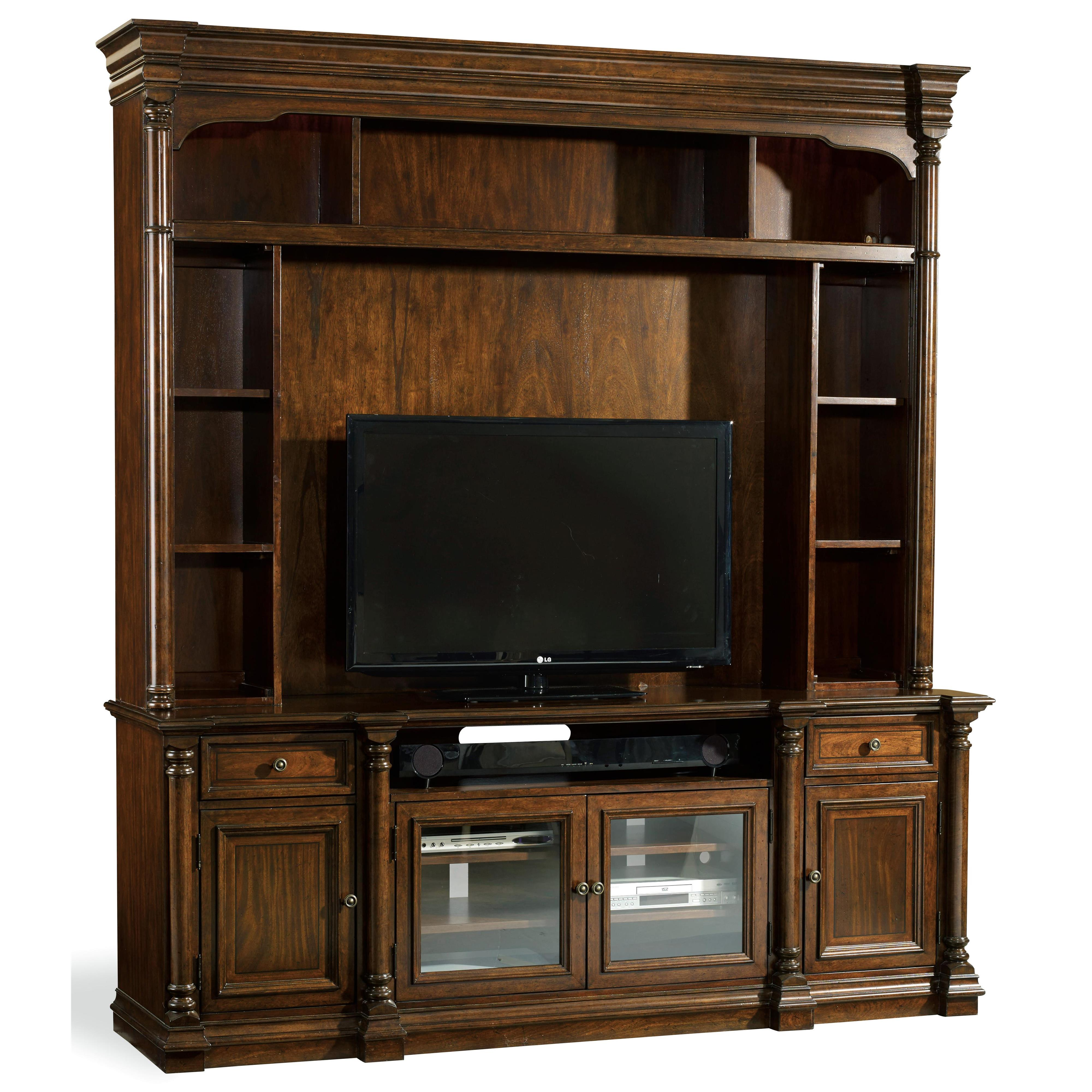 Home Entertainment Spaces: Hooker Furniture Leesburg Entertainment Console With Center Speaker Space