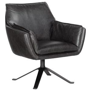 Metal Base Swivel Club Chair