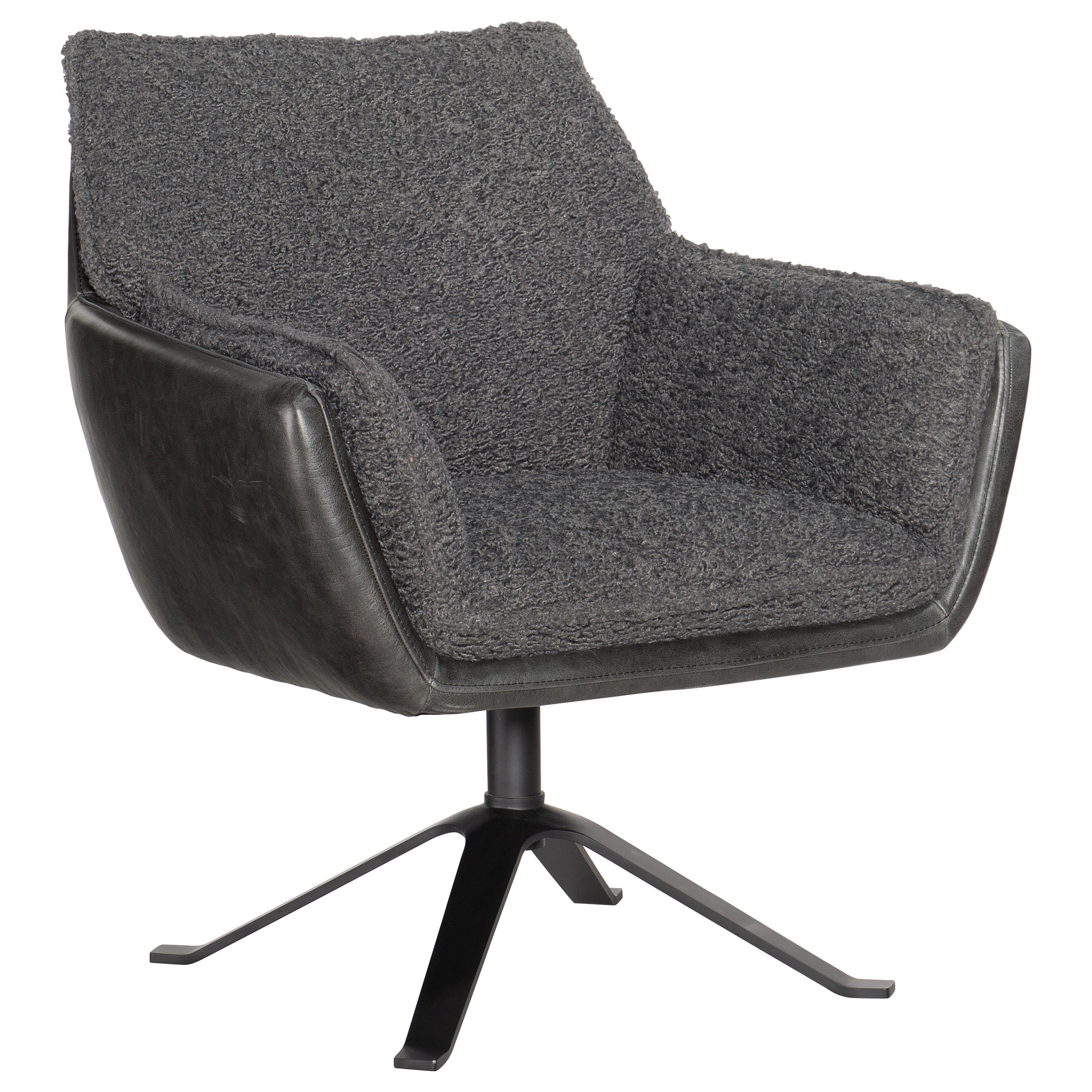 Limber Metal Base Swivel Club Chair by Hooker Furniture at Baer's Furniture