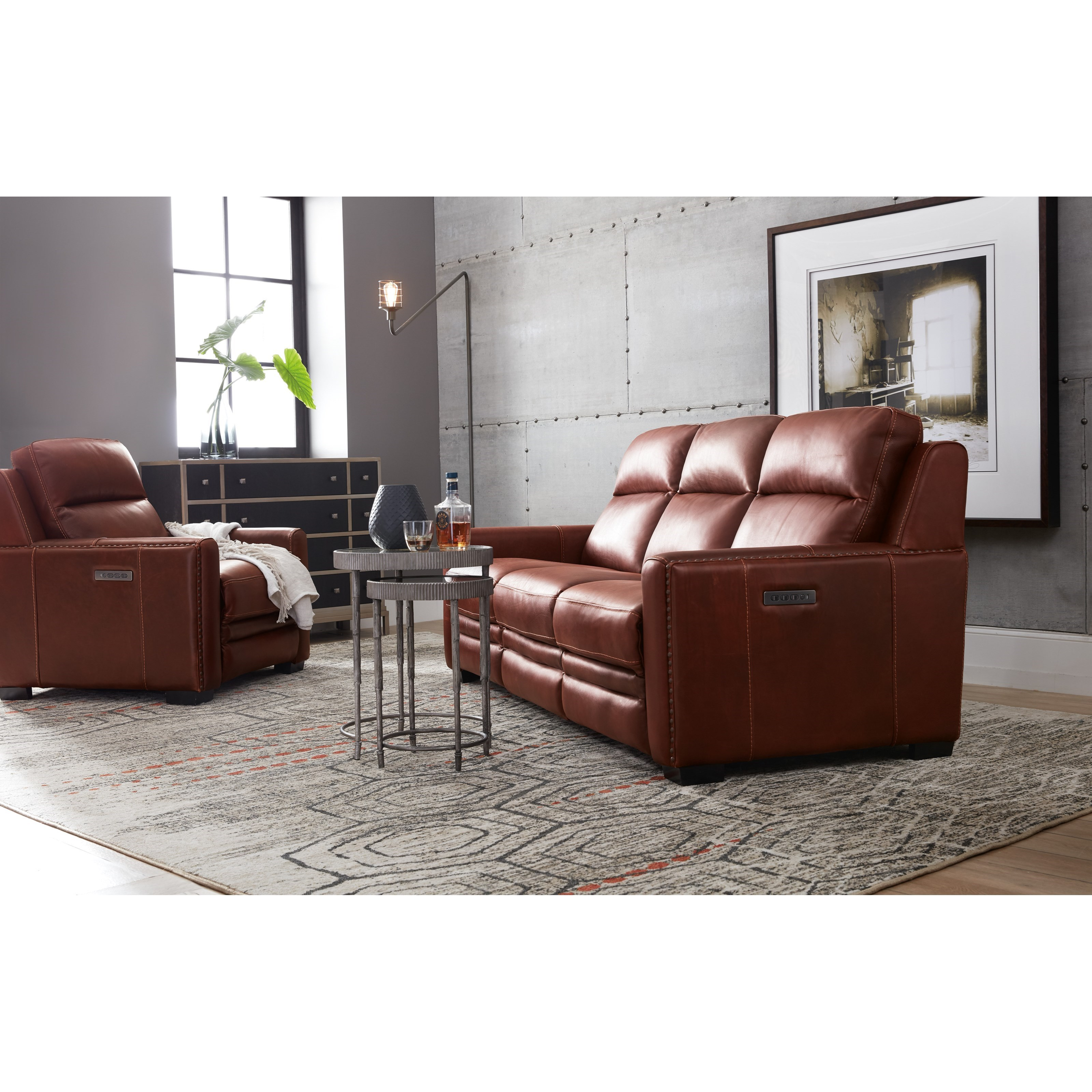 Hooker Furniture Lincoln Transitional Leather Power