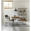 Hooker Furniture Live Edge Contemporary Metal and Wood Side Chair