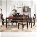 Hooker Furniture Ludlow 5 Piece Set - Item Number: 1030-76200+2x76400+4x76410