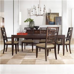 Hooker Furniture Ludlow Table & 4 Side Chairs Set