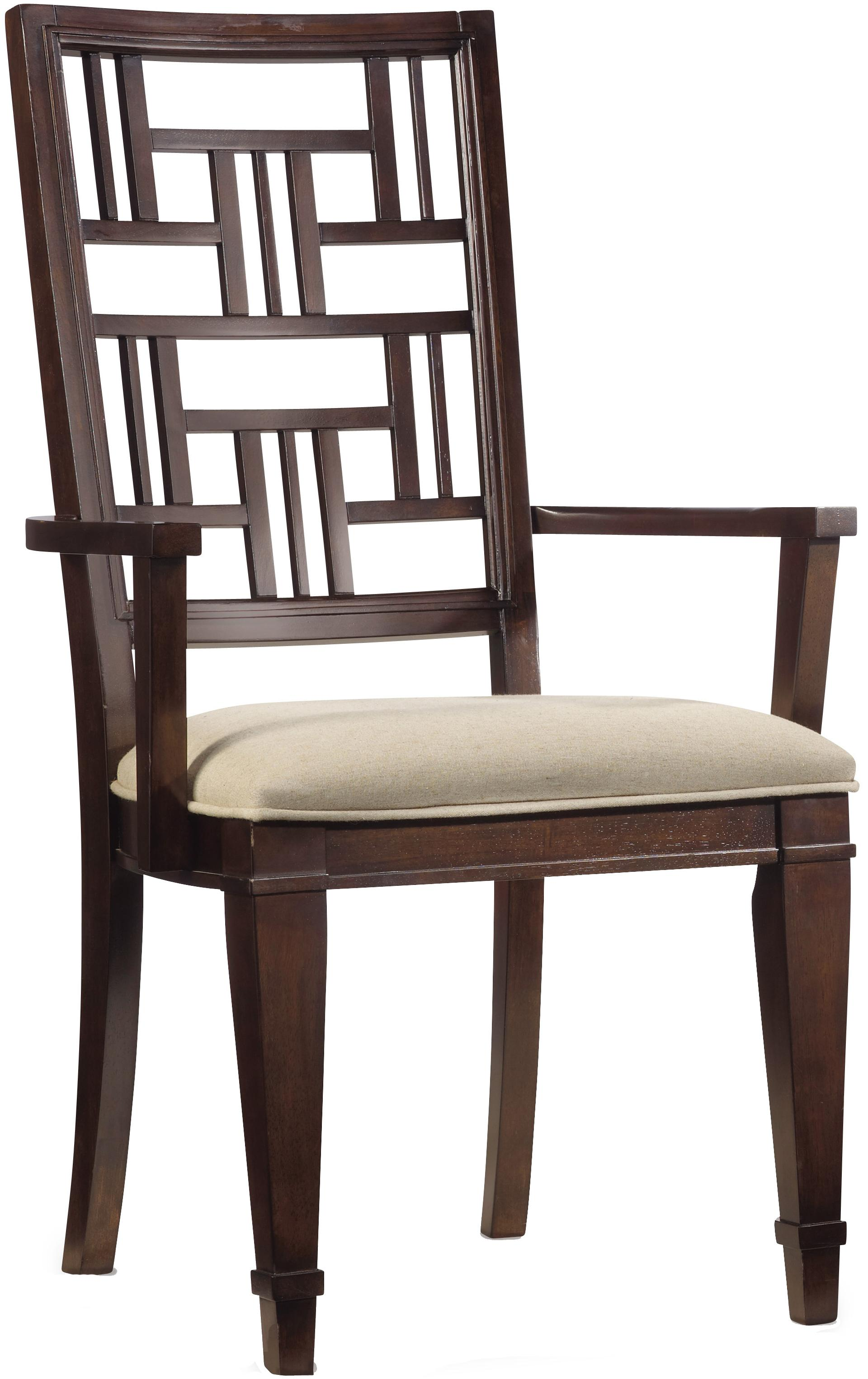Hooker Furniture Ludlow Fretback Arm Chair - Item Number: 1030-76400
