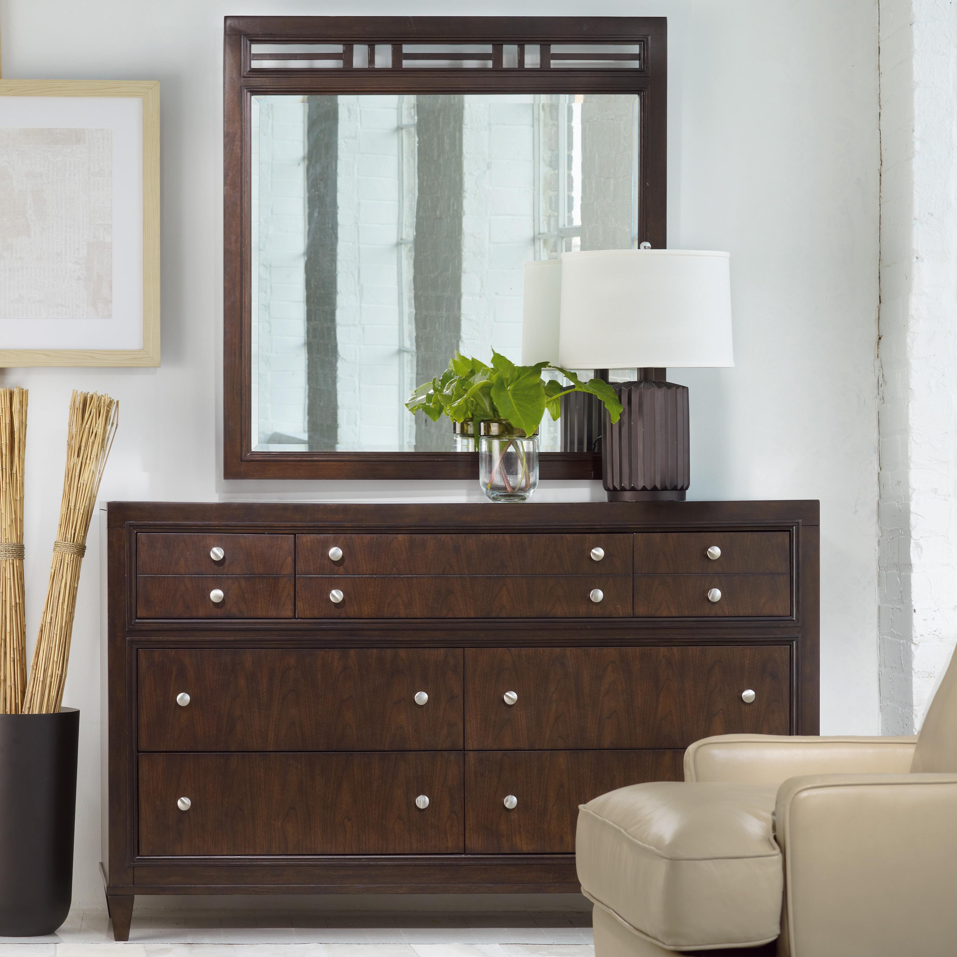 Hooker Furniture Ludlow Dresser & Mirror - Item Number: 1030-91002+91009