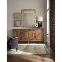 Hooker Furniture L'Usine Reclaimed Wood Console/Credenza with Four Doors