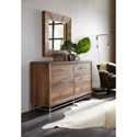 Hooker Furniture L'Usine Square Mirror with Reclaimed Wood  Frame