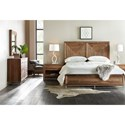 Hooker Furniture L'Usine Reclaimed Wood King Panel Bed - Bed shown may not represent size indicated