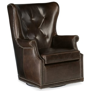 Wing Swivel Club Chair