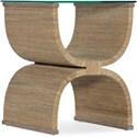 Hooker Furniture Melange Lenny Woven End Table - Item Number: 638-50513-80