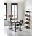 Hooker Furniture Mélange Gavin Steel Writing Desk with Glass Surface