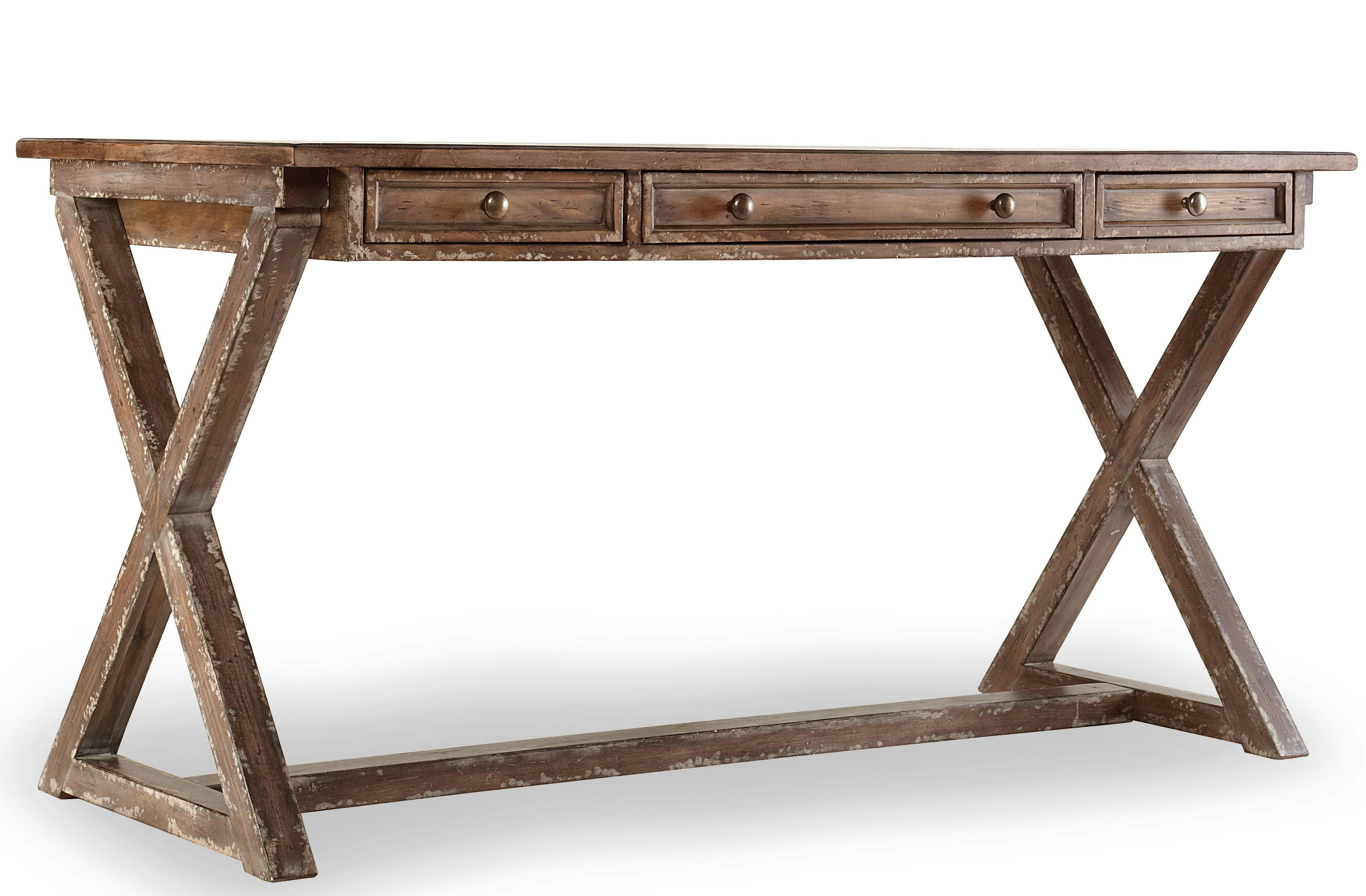 Mélange Bennett X-Base Writing Desk by Hooker Furniture at Stoney Creek Furniture