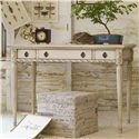 Hooker Furniture Mélange Sofia Writing Desk with Weathered Finish and Fluted Legs