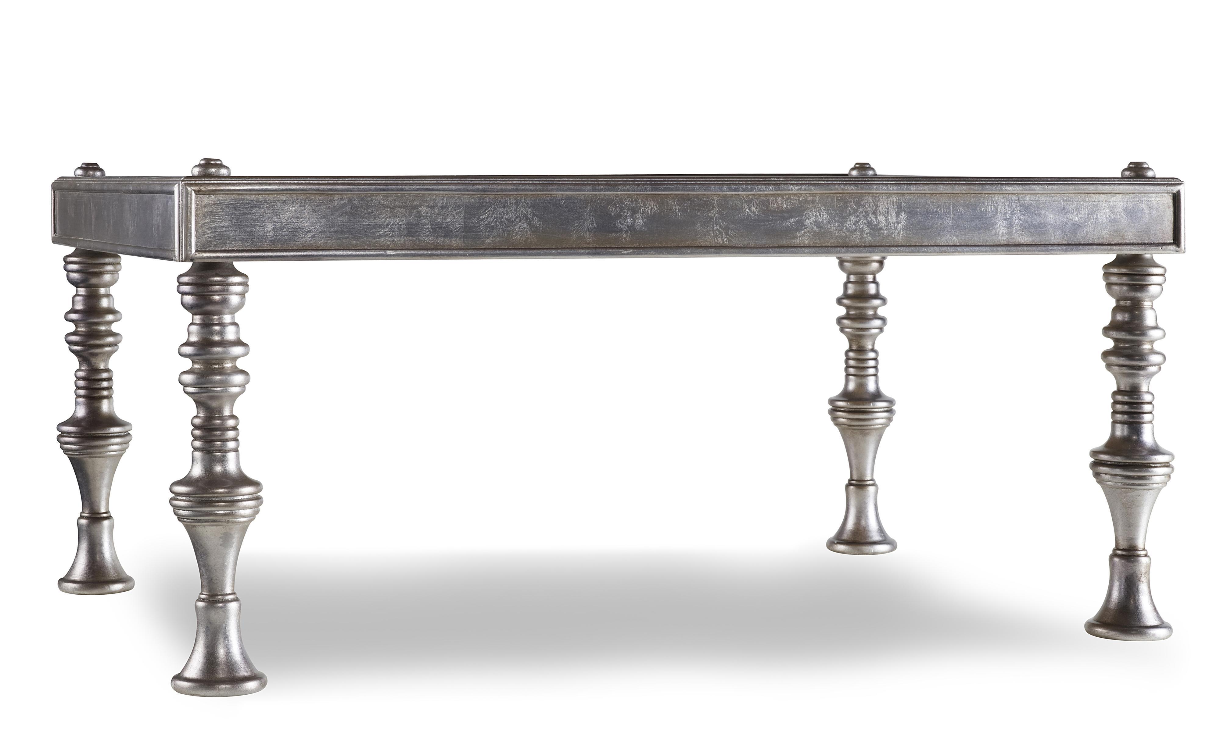 Zinc Finish Furniture Hooker Furniture Mclange Sebastian Cocktail Table With Iridescent