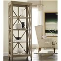 Hooker Furniture Mélange Holden Etagére Bookcase with Open Geometric Frame
