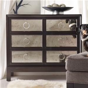 Six Drawer Mirrored Front Chest
