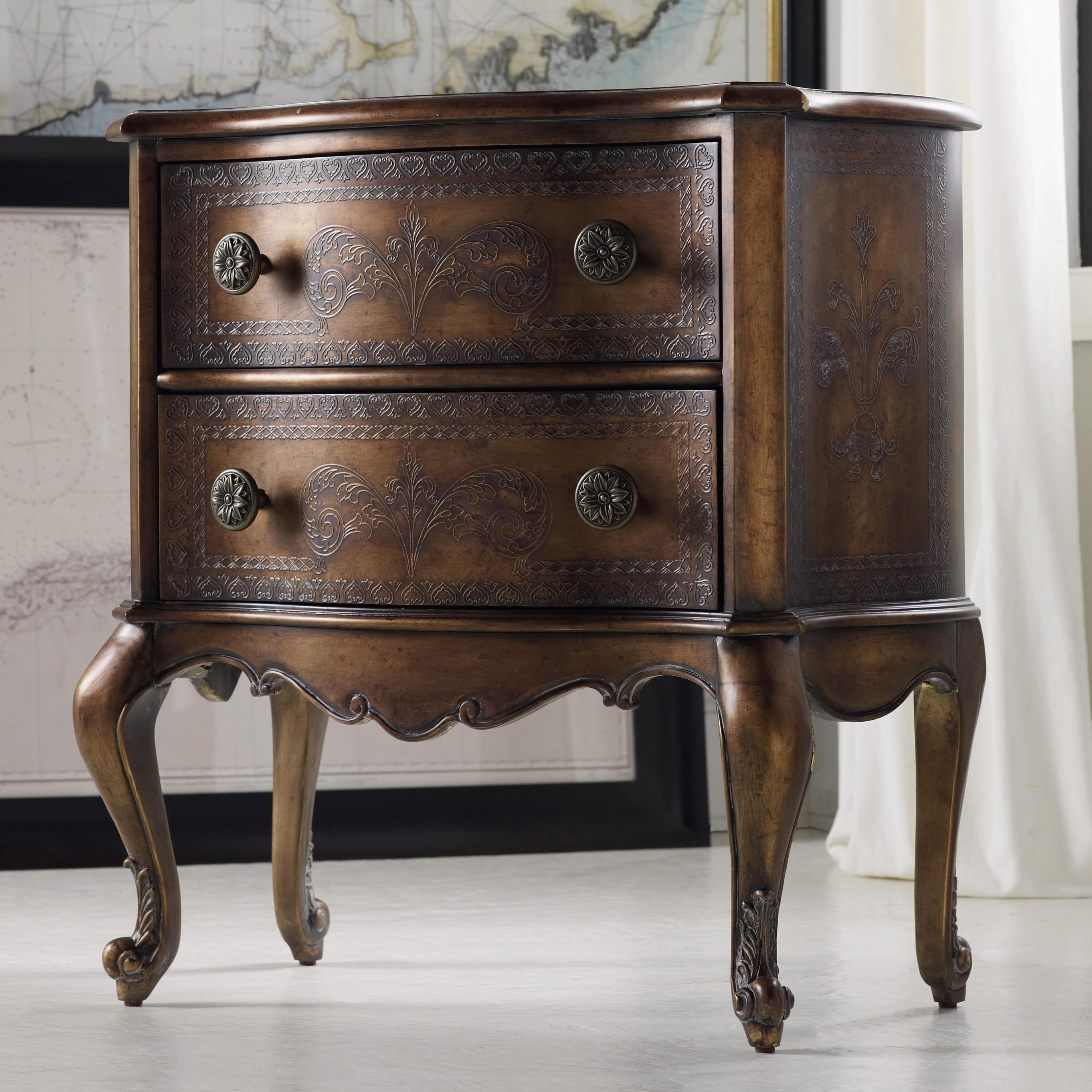 Hooker Furniture Mélange Gianna Chest With Engraved Accents And Cabriole  Legs   AHFA   End Table Dealer Locator