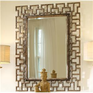 Mélange Rectangular Beveled Fretwork Mirror by Hooker Furniture